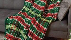 Plaid Christmas Blanket