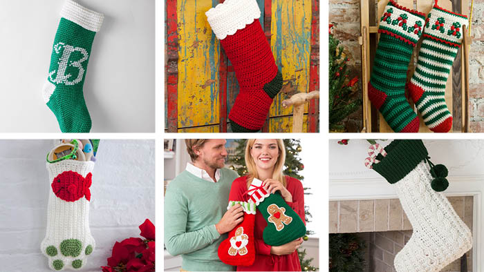 46 Crochet and Knit Holiday Stockings