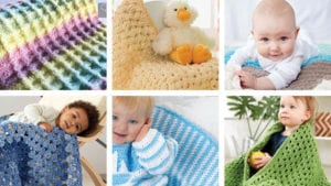 6 Beginner Baby Blankets for Beginners