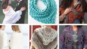 6 Terrific Crochet Shawls with Tutorials