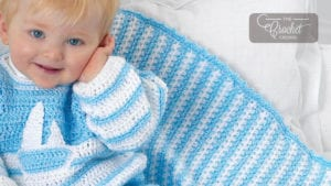 Crochet Baby Stripes Blanket