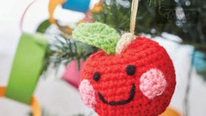 Crochet Cheeky Apple Ornament