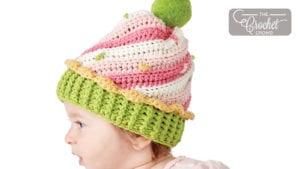 Crochet Cupcake Swirl Hat