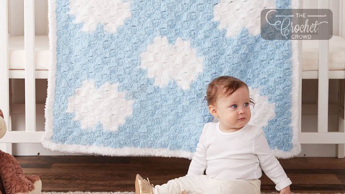 C2C Dreamy Clouds Baby Blanket