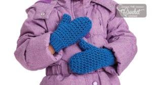Crochet Family Size Mittens