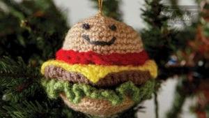 Crochet Hamburger Ornament