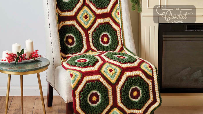 Crochet Home for Christmas Afghan Pattern