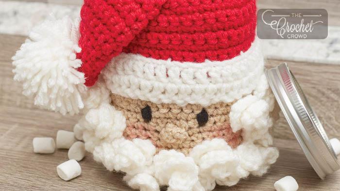 Crochet Jar Santa