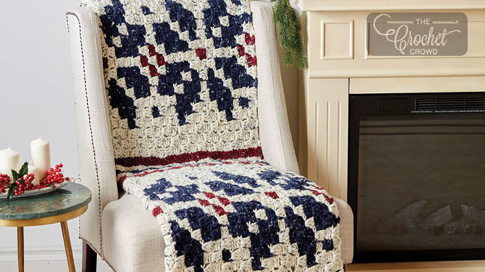Crochet C2C Nordic Motif Blanket Pattern