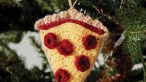 Crochet Pizza Ornament