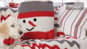 Crochet Snowman Basket