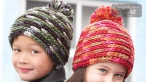 Crochet Spiral Hats