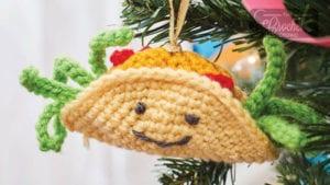 Crochet Taco Ornament