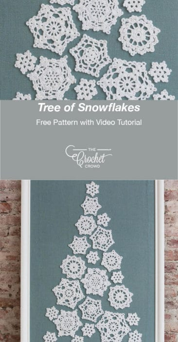 Crochet Tree of Snowflakes