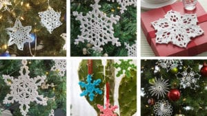 10 Crochet Mix and Match Snowflakes