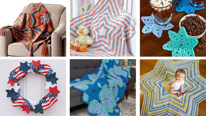 6 Star Power Crochet Patterns
