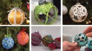7 Christmas Crochet Ball Ornaments