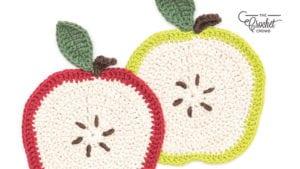 Crochet Apple A Day Dishcloth