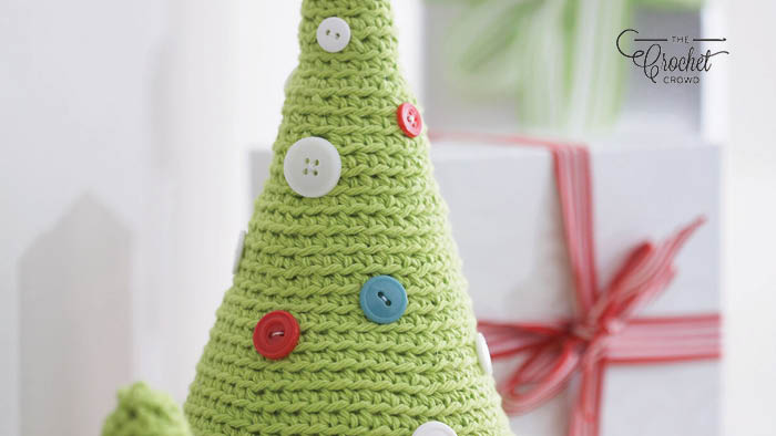 Crochet Christmas Button Tree