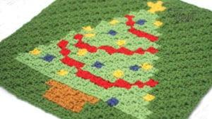 Crochet Christmas C2C Square