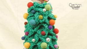 Crochet Crocodile Stitch Christmas Tree