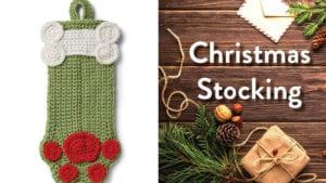 Crochet Dog Paws Stocking