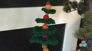 Crochet Felted Ball Christmas Tree Ornament