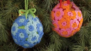 Crochet Flower Ornament Ball