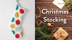 Crochet Hexagonal Christmas Stocking
