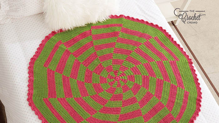 Crochet Along Peppermint Afghan Pattern