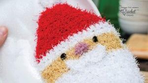 Crochet Santa Scrubby