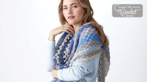 Crochet Staggered Stripes Shawl