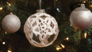 Crochet Starry Night Ornament