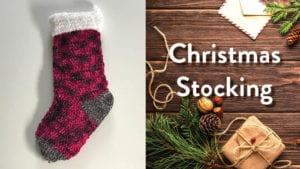 Crochet Velvet Stocking