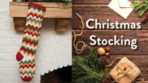 Crochet Zig Zag Stocking