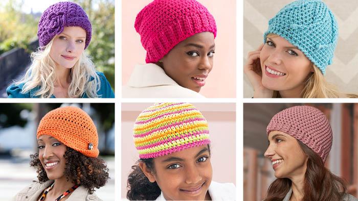 Crochet 6 Chemo Caps