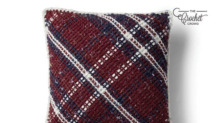 Crochet Argyle Pillow