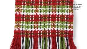 Crochet Christmas Plaid Blanket