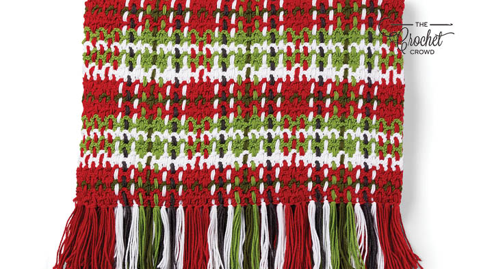 Crochet Christmas Plaid Blanket Pattern