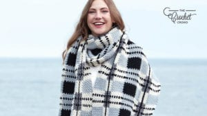 Crochet Gingham Scarf
