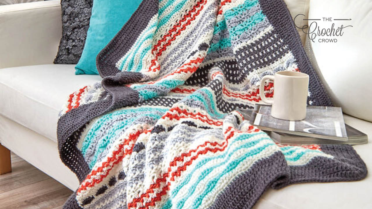 Crochet Inspired Stripe Sampler Blanket Pattern
