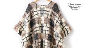 Crochet Plaid : Gingham Poncho