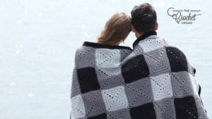Crochet Stadium Plaid Blanket
