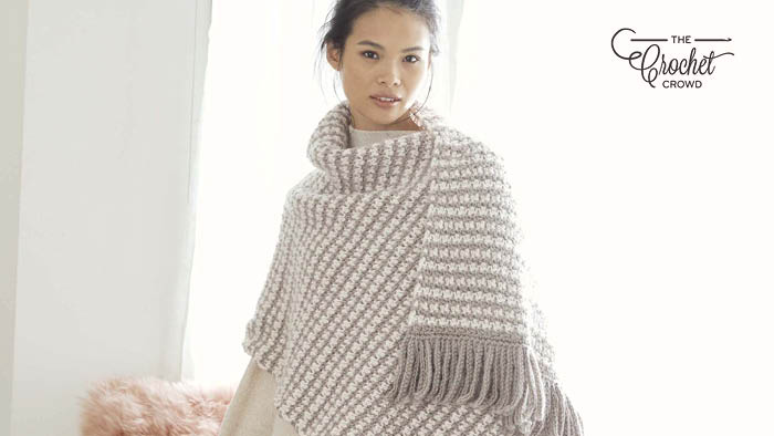 Crochet Tweed Stitch Shawl Pattern