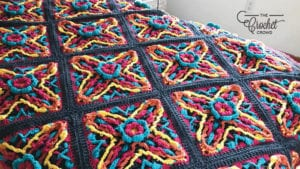 Crochet X Marks the Spot Afghan Bright 2