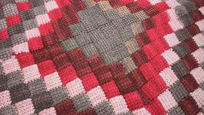 Crochet Caron Cakes Entrelac Afghan Pattern