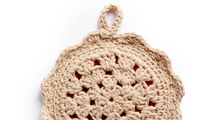 Crochet Cherry Pie Pot Holder Pattern