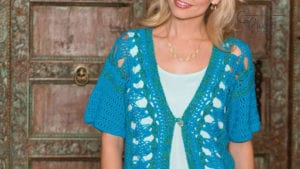 Crochet Hairpin Lace Cardigan