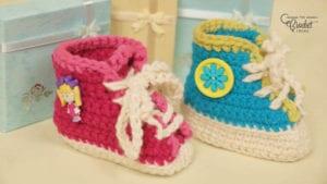 Crochet Sneaker and High Top Booties