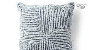 Crochet Swirling Textures Pillow